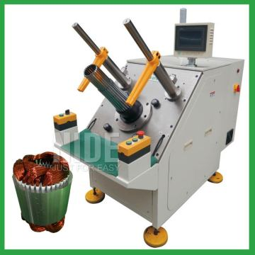 Fan motor semi-auto stator winding inserting machine
