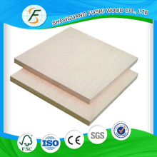 Commercial Plywood With Natural Birch Veneer of BB/BB BB/CC Grade
