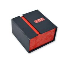 Emballage de boîte à boutons à double ouverture de bijoux de haute qualité