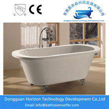 White clawfoot bathtub standing tubs