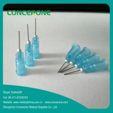 Aiguille de seringue émoussée adaptée aux besoins du client pour la distribution