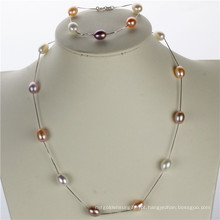 Snh Real 925silver Wedding Pearl Set Wholesale