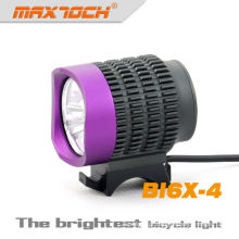 Maxtoch BI6X-4 2800 Lumens Bright 3 * CREE XML T6 Bicicleta Roxa Levou Luz