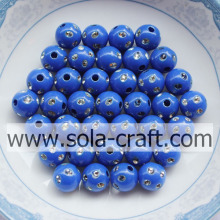 Assorted Plastic Disco Dot Beads For Jewelry Blue Color 5MM