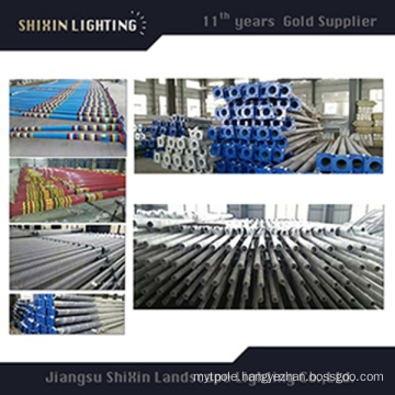8m Road Lighting Galvanized Steel Column