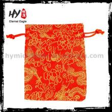 Новый дизайн ручной работы мешок drawstring бархата, мешок ювелирных изделий высокого качества сумки, вышитые ювелирные изделия ролл сумка для оптовых
