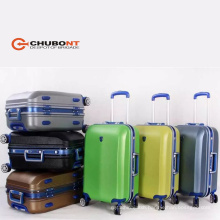 Chubont Fashion Hot Selling High Qualilty PC with ABS Aluminum 8 Wheels Luggage Set