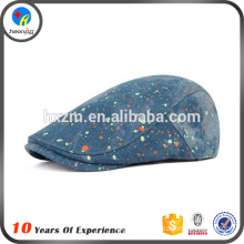 adjustable long brim beret hat cap