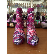 New African Printed Fabrics Fashion High Heel Shoes (HCY02-306)