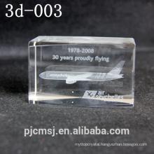 3D Laser Crystal Cube 3D Laser air plane