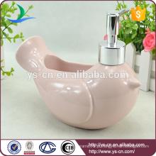 Atacado rosa cerâmica pássaro de paz loção Dispenser