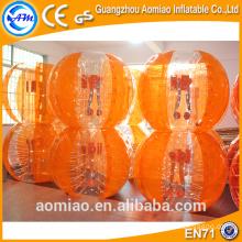 Hot sale bounce bubble ball pour le football/inflatable body bumper ball