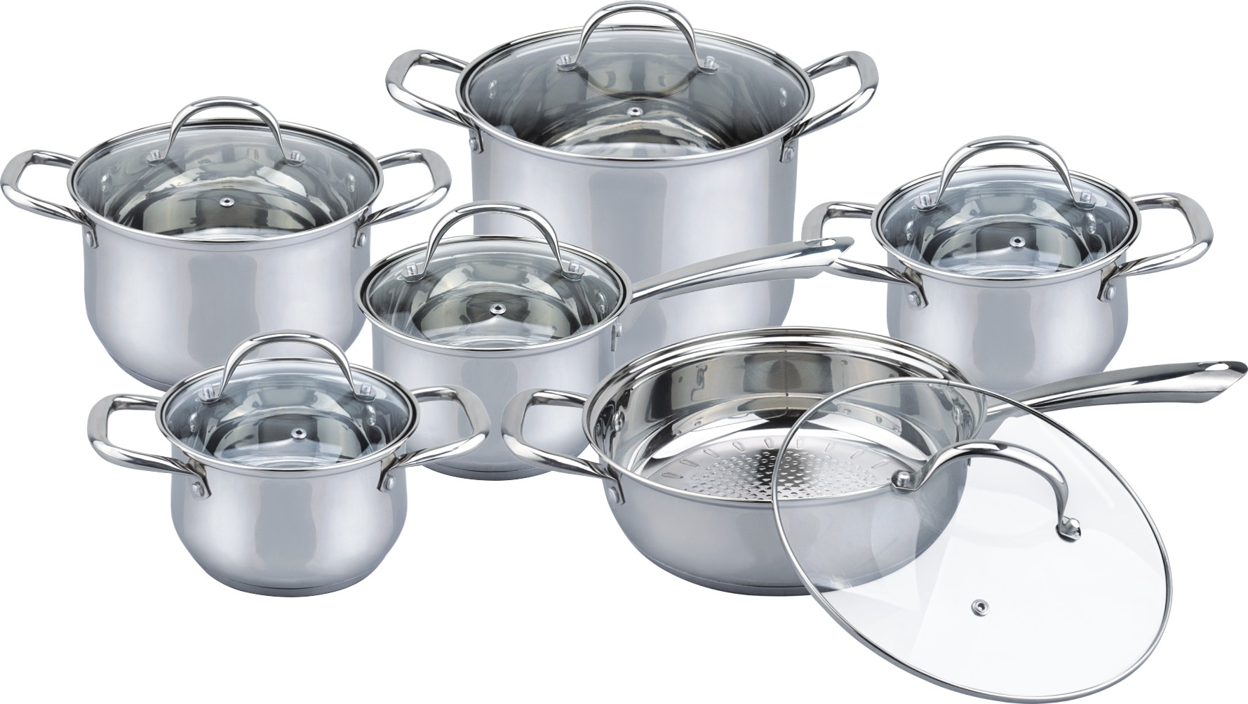 12pcs big handle & knob cookwar set