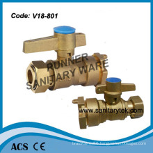 Brass Ball Valve for Water Meter (V18-801)