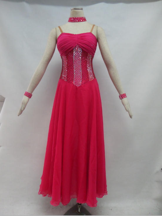 Red Ballroom Dance Dresses