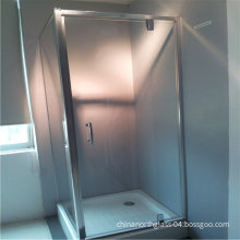 North Glass Fixed or Sliding 8mm Clear Tempered Glass Box Shower with Aluminum Frame