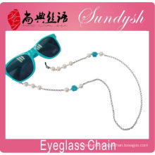 Summer Jewelry Blue Flower Pearl Bead Lanyard Sunglass Neck Strap