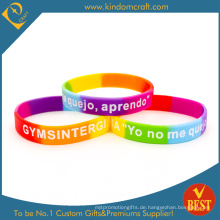 Heißer Verkauf Segmentierte Debossed Logo Silikon Armband & Armband