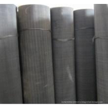 Черная проволочная сетка / мягкая стальная проволочная сетка / черная проволочная ткань