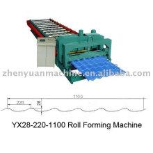 Lieferant für YX28-220-1100 Glazed Fliesen Rollenformmaschine, Stahl Dachformmaschine