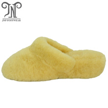 Good quality 100% for Ladies Black Sheepskin Slippers most popular winter indoor sheepskin full slippers export to Czech Republic Exporter