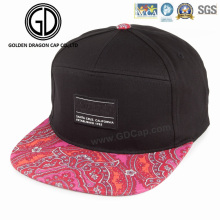 Fashion Sublimation Print Visor Snapback OEM Leisure Cap with Embroidery Printing
