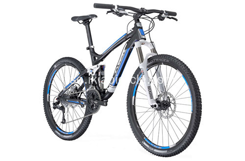 Black Steel Frame Mountain Bicycle