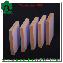 Wood Grain and Solid Color Melamine Coated MDF Board
