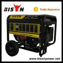 BISON CHINA TaiZhou 240 Volt Niedriger Kraftstoffverbrauch 6.5kw Benzin Generator Manuell Made in China
