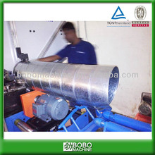 Spiral round HVAC duct forming machine