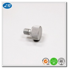 CNC lathe machining screw aluminium cap nut