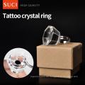 Wiederverwendung Crystal Tattoo Ink Holder Ringe Augenbrauen Make-up Tattoo Pigments Ink Holder