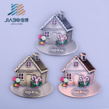 Cartoon House Shaped Cute Children Keychain Pendant Metal Charm Custom Manufacturer