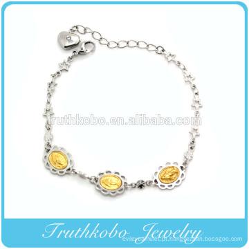 Personalizado personalizado design religiosa jóias china aço inoxidável cristo serenidade oração mary