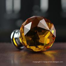 Artisanat de boule en cristal orange de 35mm pour la décoration de pièce