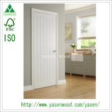 Plank V-Groove White Prime Composite Wood Door
