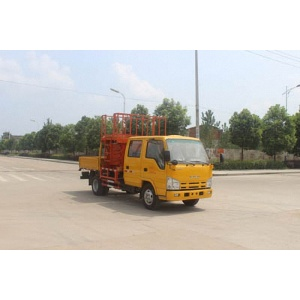 2018 new ISUZU mobile car scissor lift vehicle