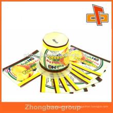 Paquete de botellas impresas bandas de encogimiento de plástico para el etiquetado de productos