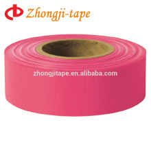 "1"" * 200' rose red trail marking tape"