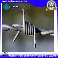 Fil de fer barbelé galvanisé CE & SGS pour la clôture
