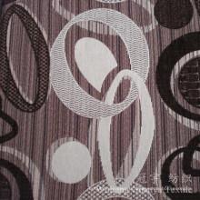 Tissu de Chenille de polyester teint par fil de neige de Jacquard pour le textile à la maison