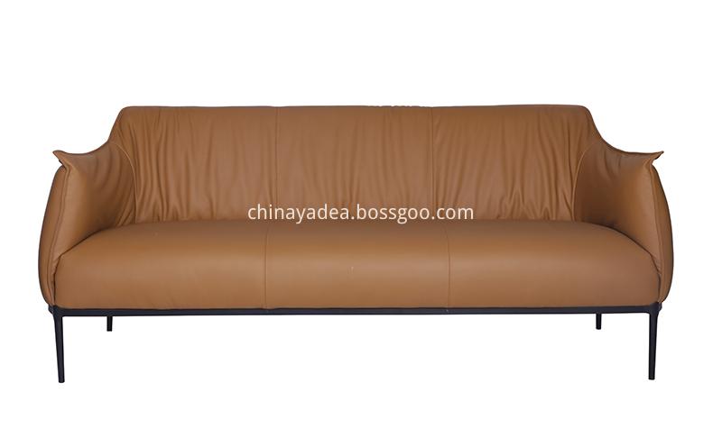 Archibald Leather Three Seater Sofa