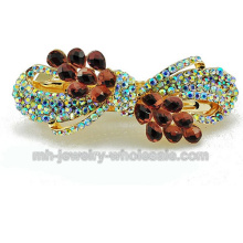 Zinc Alloy Acrylic Drop Shape Beads Fashion Hair Clips