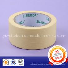 Fita adesiva de mascaramento do papel de crepe, fornecedor resistente ao calor da fita de máscara China