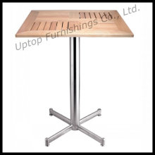 Square Outdoor Aluminium Slat Wood Table (SP-AT334)