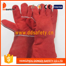 Red Cow Split Leather Welding Glove (DLW622)