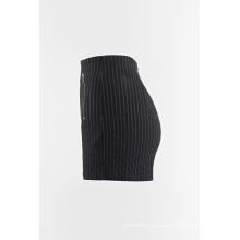 Listras tecidas shorts calça quente