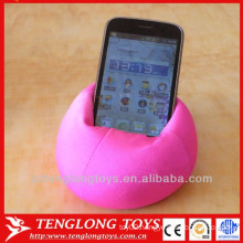 Novelty design flexible phone holder with microbeads