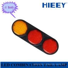Indicateur de lampe arrière de 4 pouces à LED ronde / feu arrière / stop pour voiture lourde