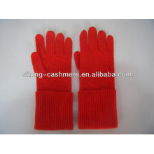 100% pure ruffle long Cashmere Gloves for men women
